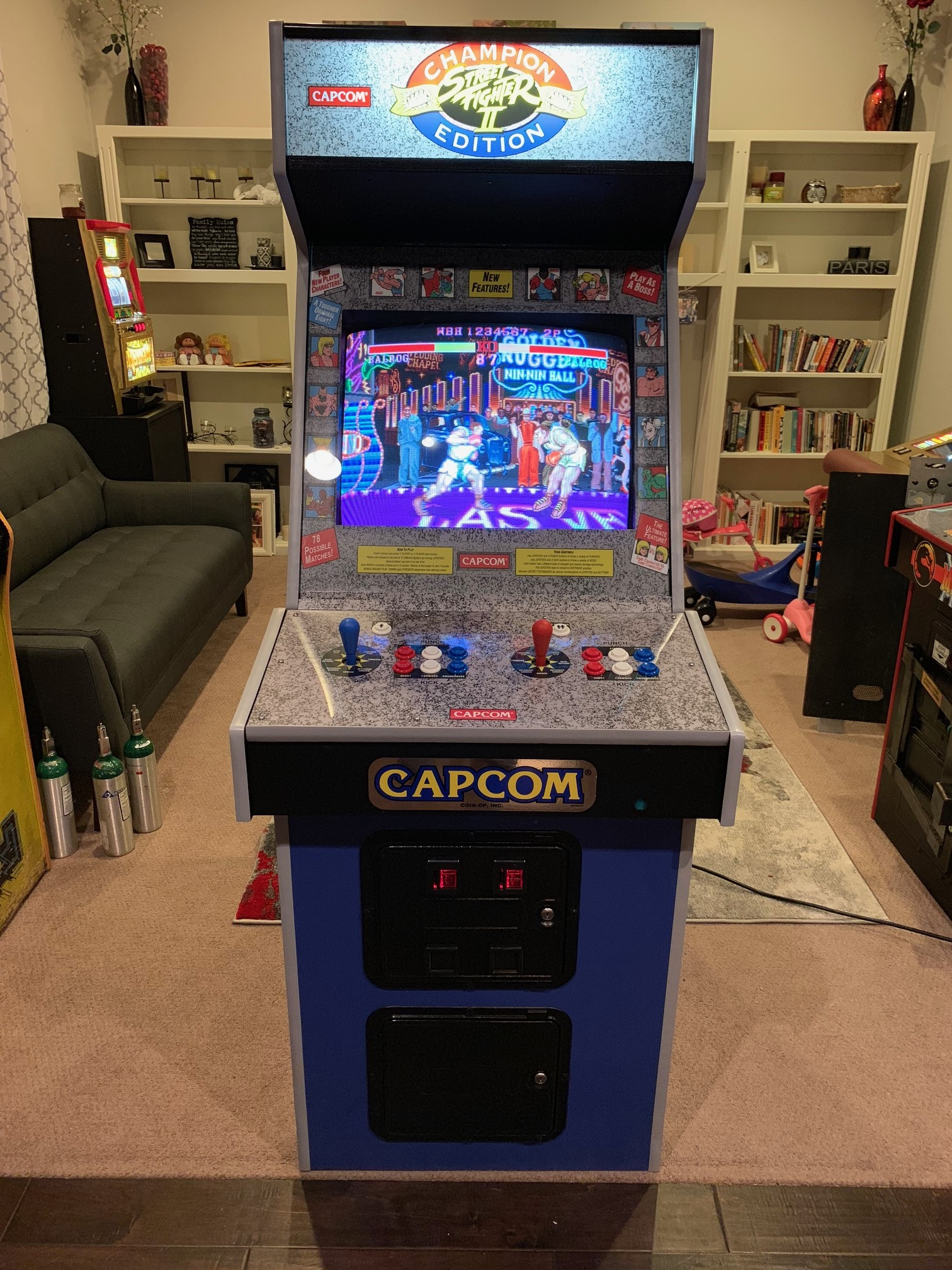 Parted Out Midway Cab Turned Into Street Fighter 2 Champion