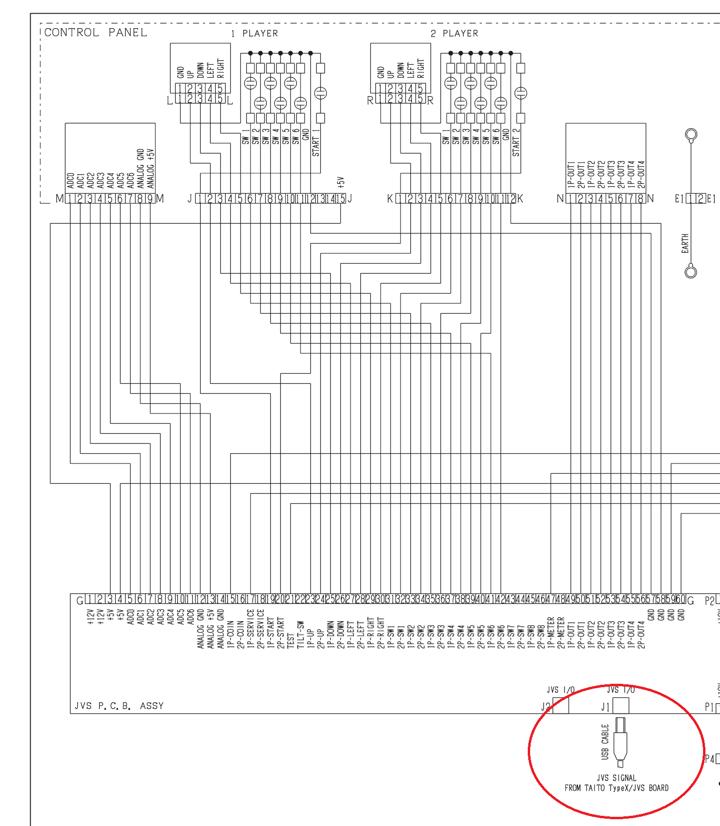 Need help understanding JVS PCB Y and its functions with ... Jamma Wiring Diagram Plus on