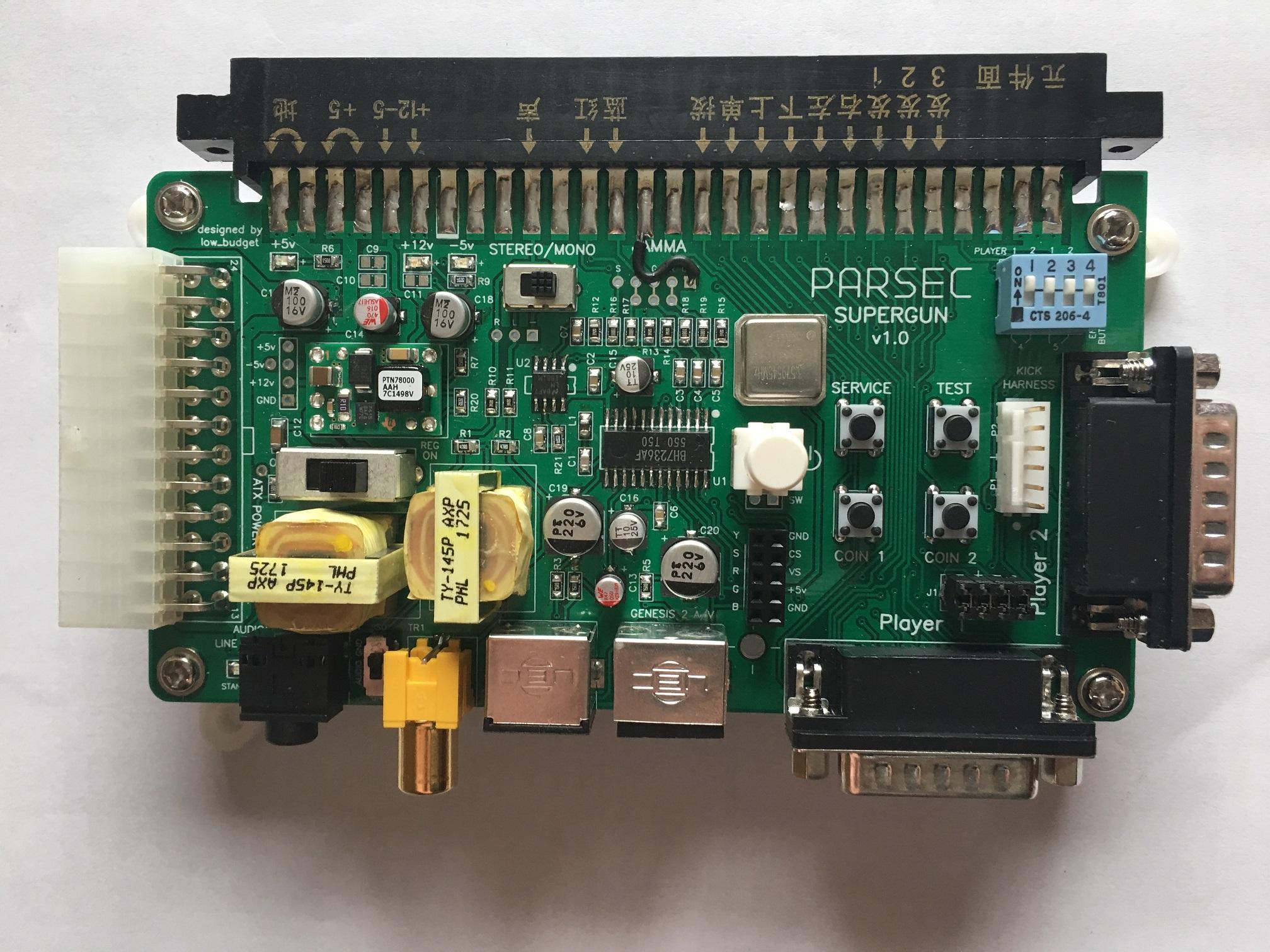 not assembled for Neo-Geo MVS Supergun Jamma Kit